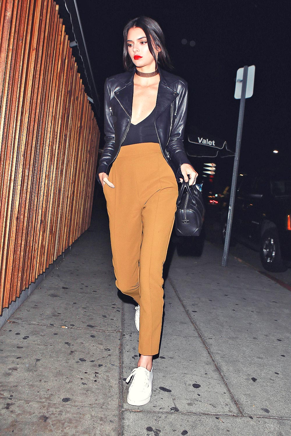 Kendall Jenner arriving at The Nice Guy
