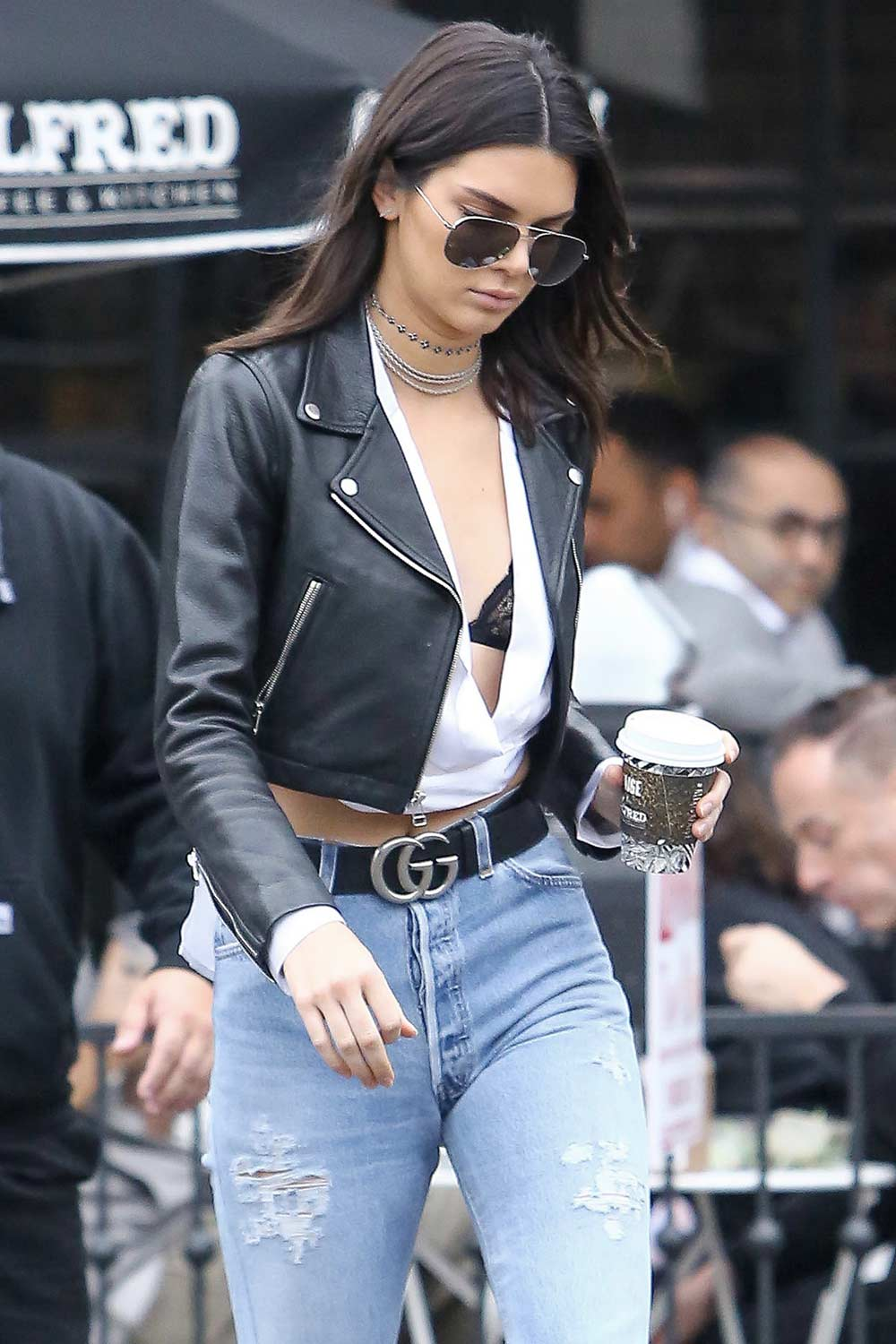 Kendall Jenner blue jeans