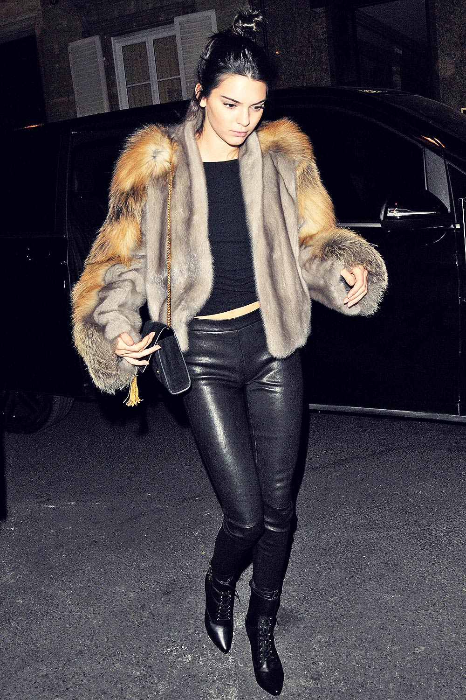 Kendall Jenner at Kinugawa Restaurant in Paris