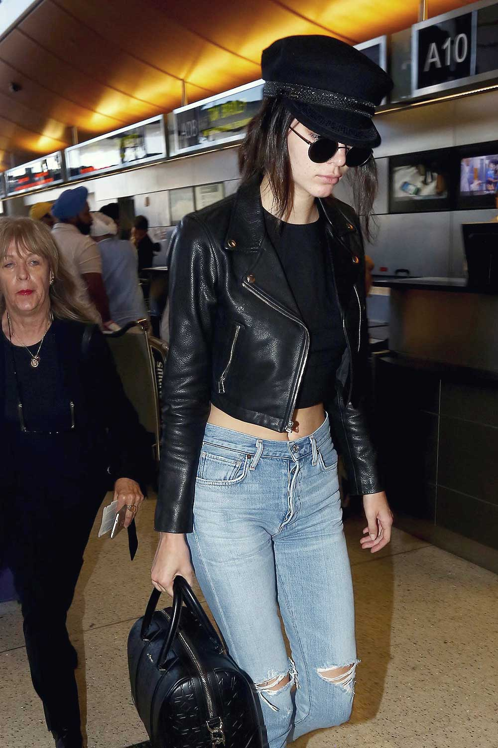 Kendall Jenner At Lax Leather Celebrities