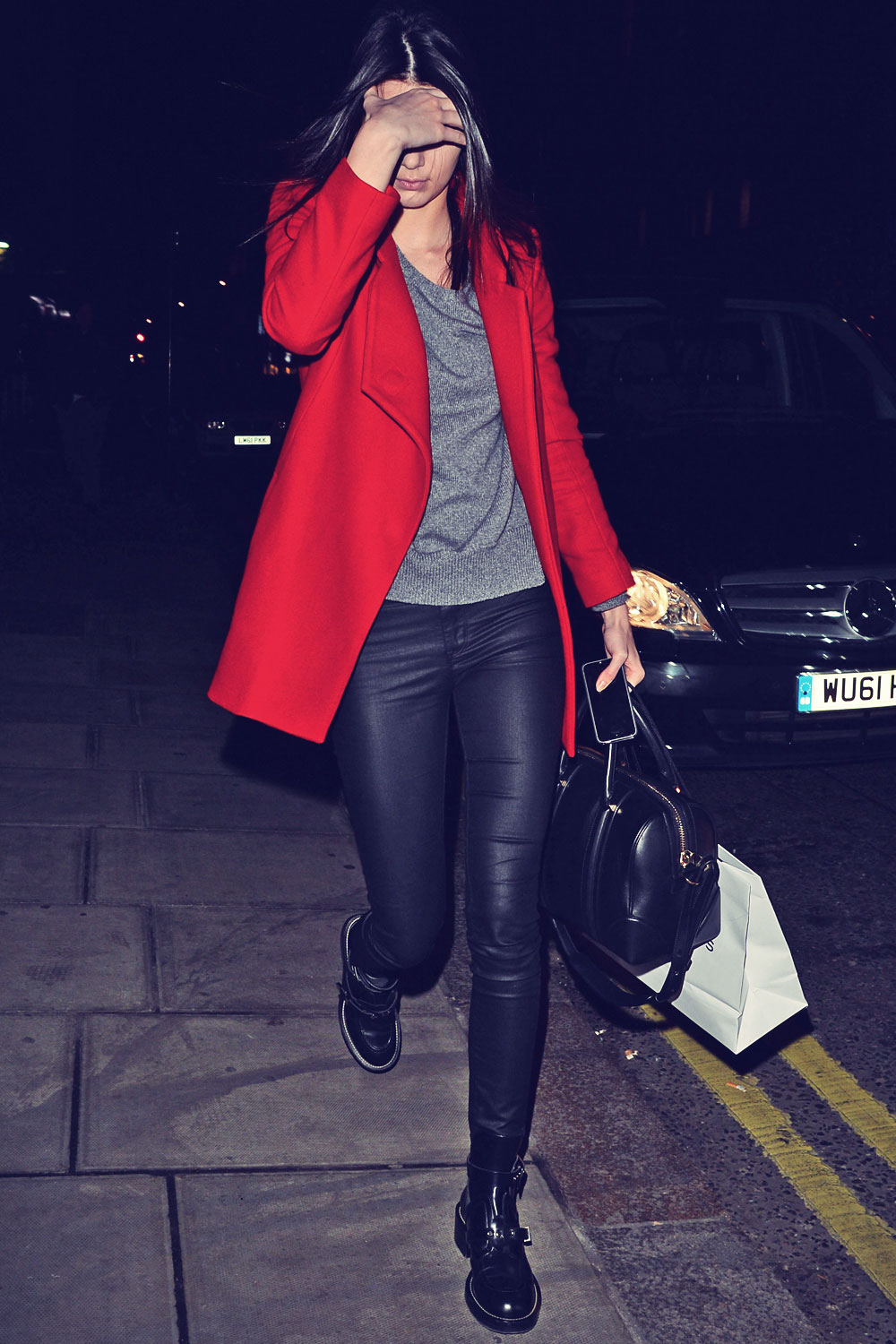 Kendall Jenner at her London hotel