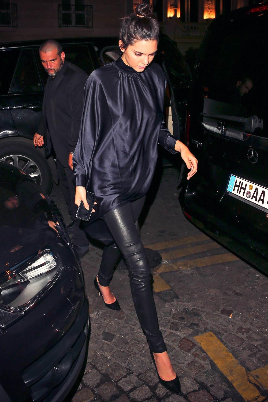 Kendall Jenner leaving Kinu Japanese Restaurant