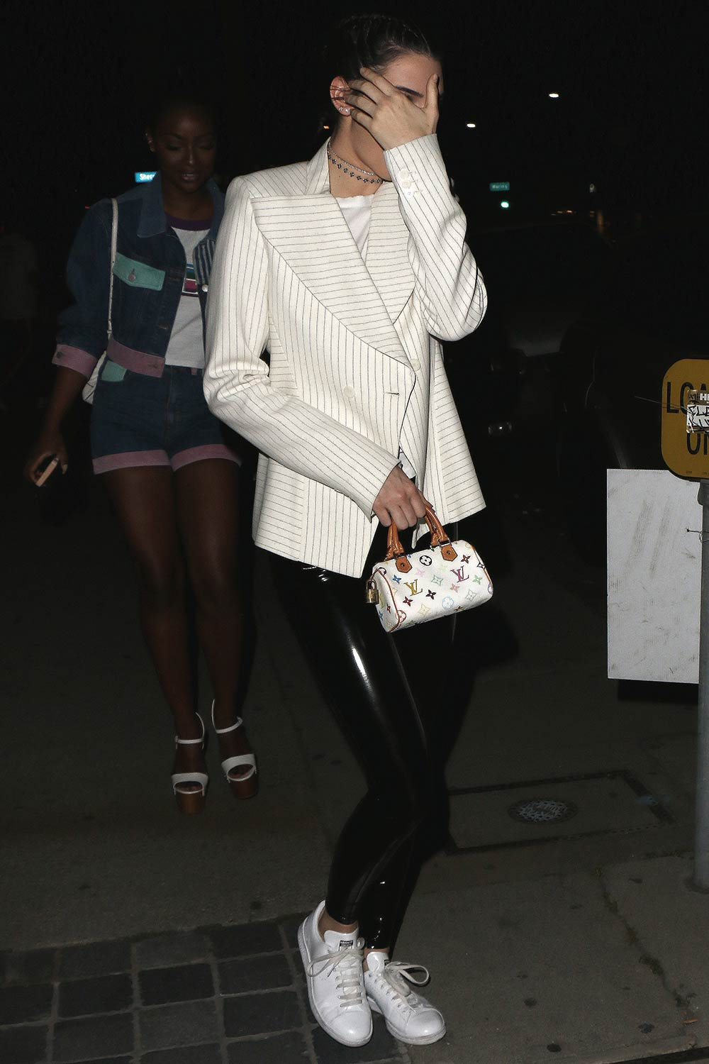 Kendall Jenner leaving the GUESS Store