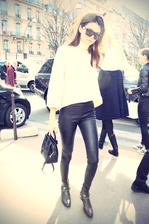 Kendall Jenner seen leaving the Celine store