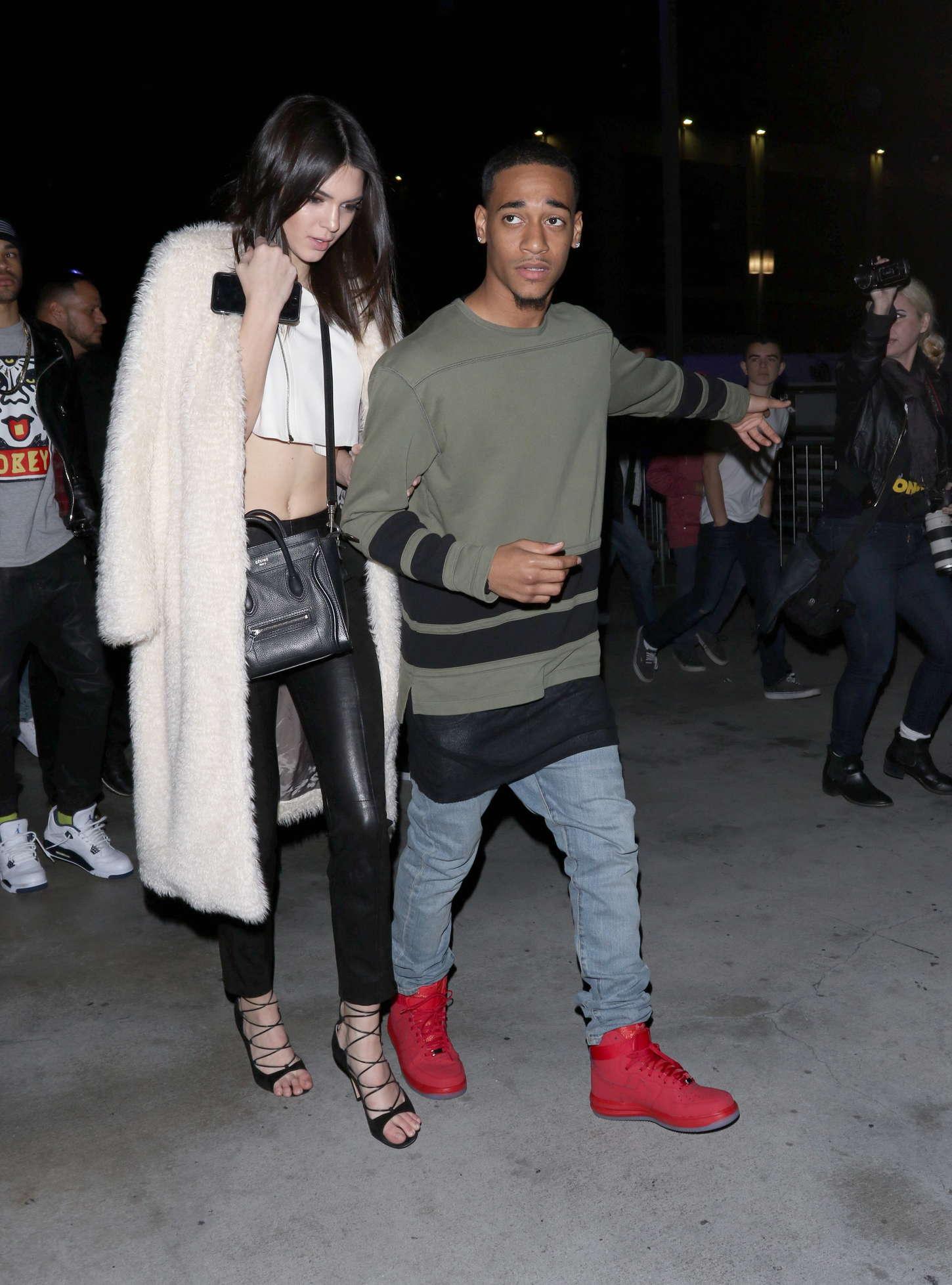 Kendall Jenner leaving The Staples Center