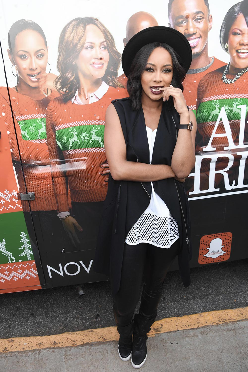 Keri Hilson attends Almost Christmas Food Truck Tailgate - Leather ...