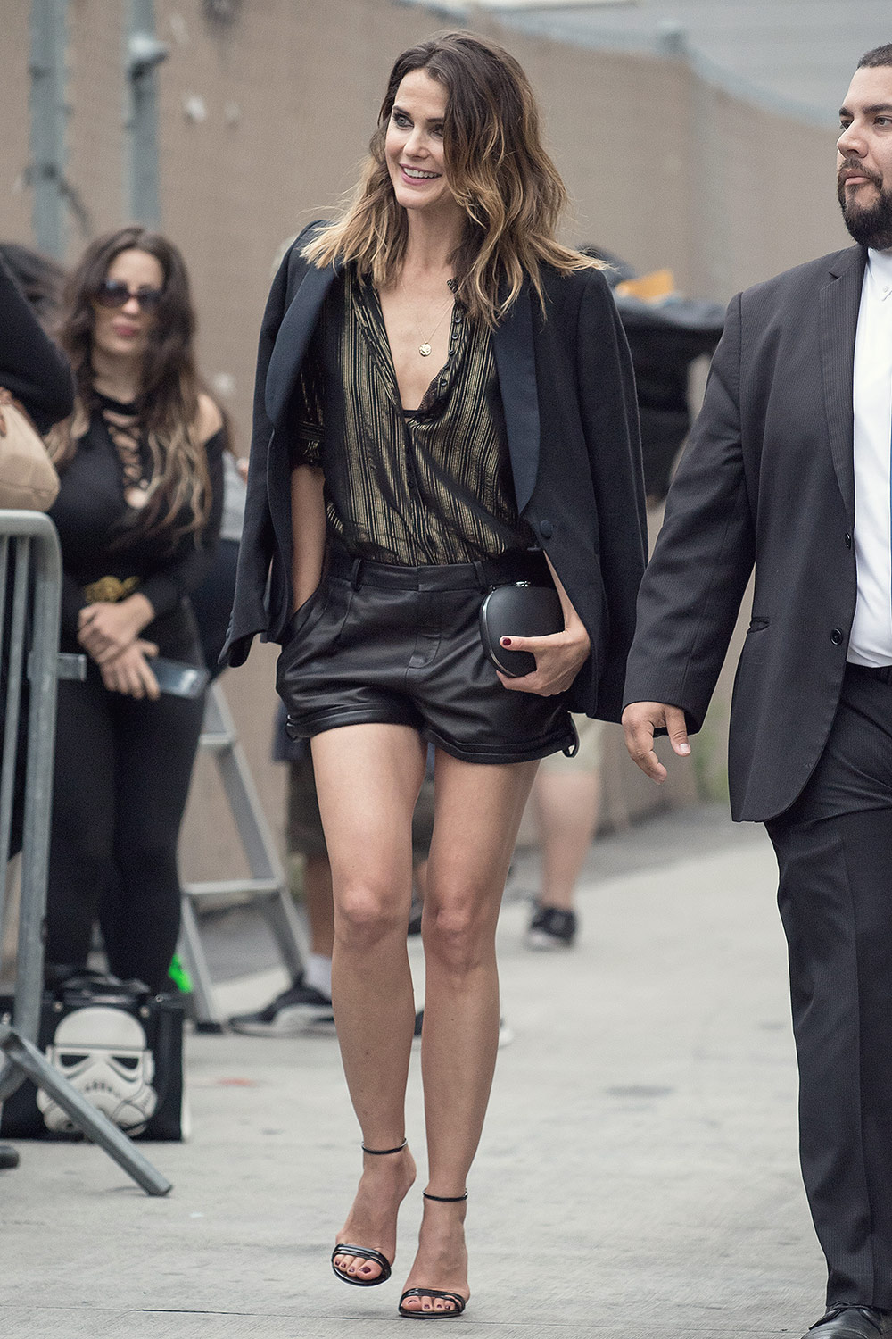Keri Russell arriving at Jimmy Kimmel Live