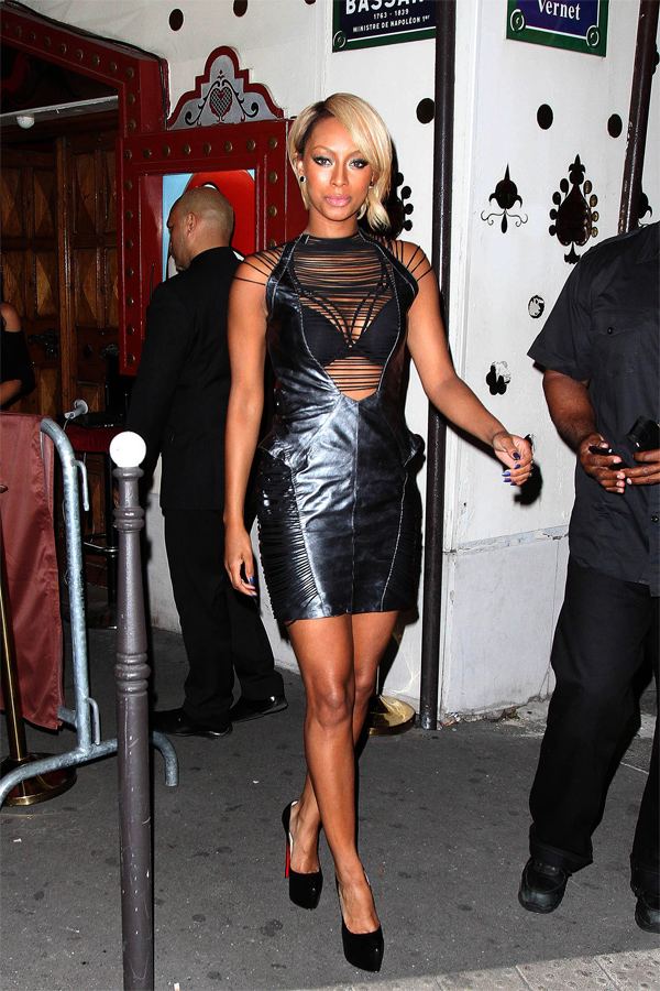 Keri Hilson at Raspoutine nightclub in Paris