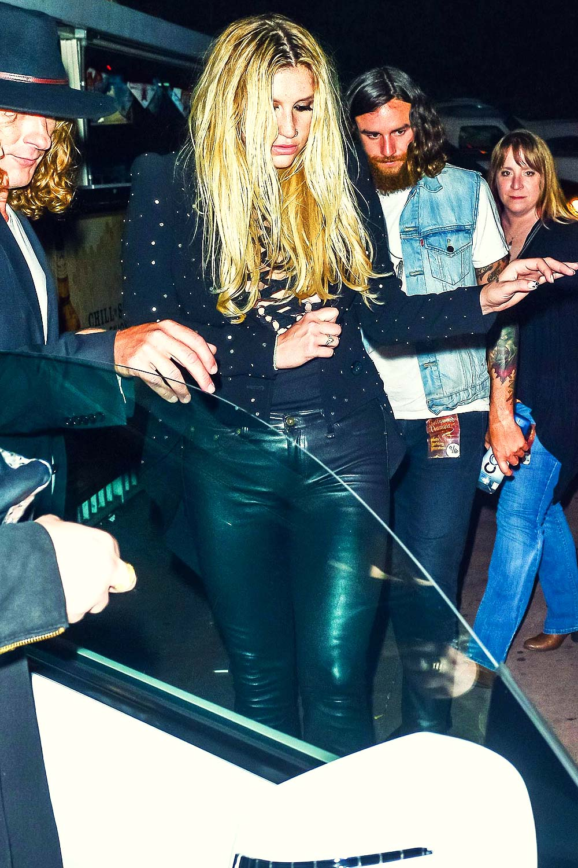 Kesha leaving The Roxy in Hollywood