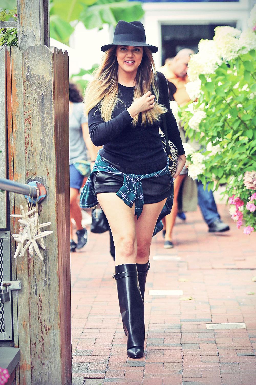 Khloe Kardashian shopping at DASH