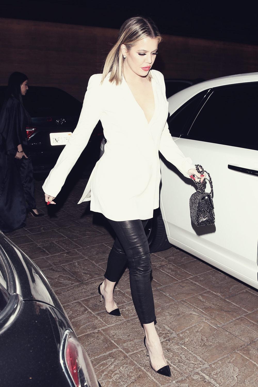 Khloe Kardashian leaving the Nobu Restaurant