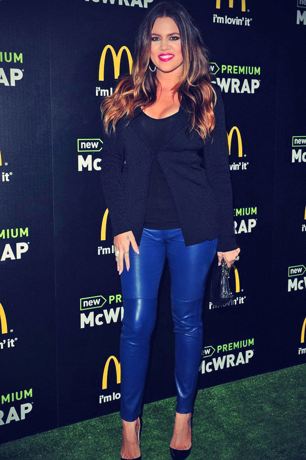 Khloe Kardashian attends the launch of McDonald's Premium McWrap