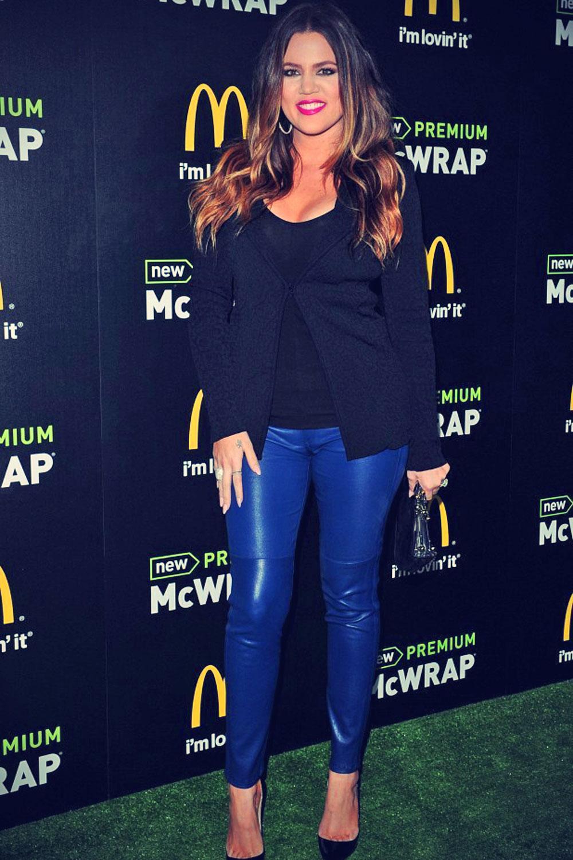Khloe Kardashian attends the launch of McDonald's Premium McWrap