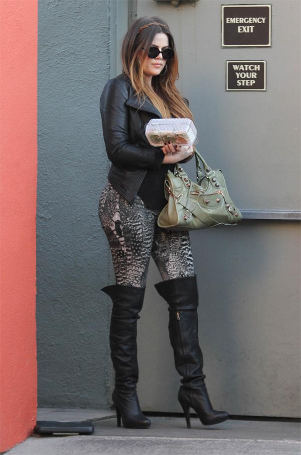 Khloe Kardashian taking some food to go in LA