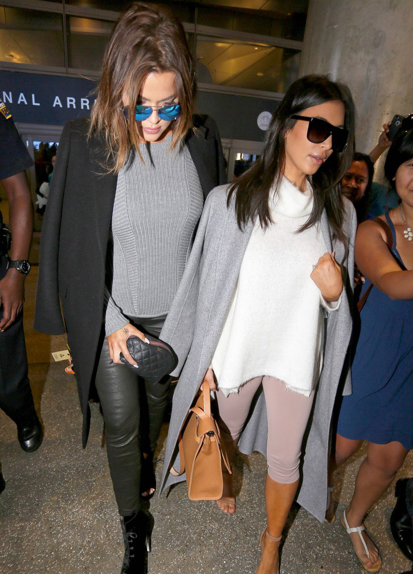 Khloe Kardashian arrives at LAX Airport