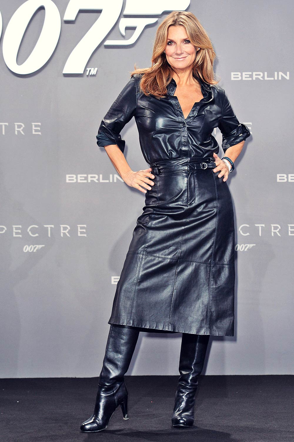 Kim Fischer attends Premiere of Spectre in Berlin