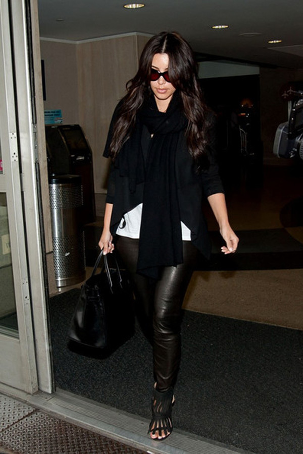 Kim Kardashian Lands in LA