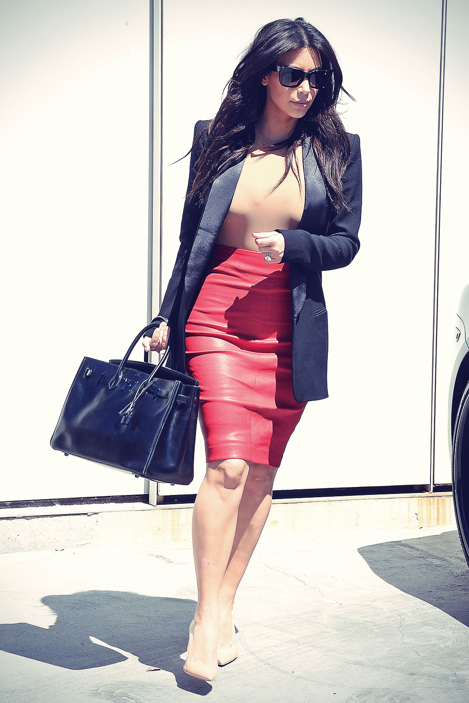 Kim Kardashian at Kanye's Hollywood Hills home