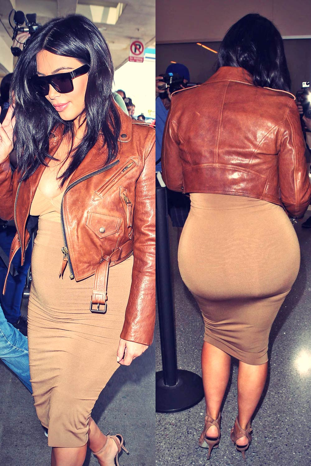 Kim Kardashian at LAX airport in LA