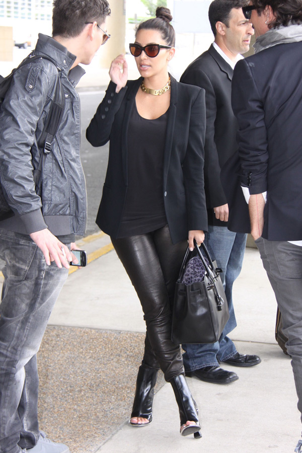 Kim Kardashian at LaGuardia airport