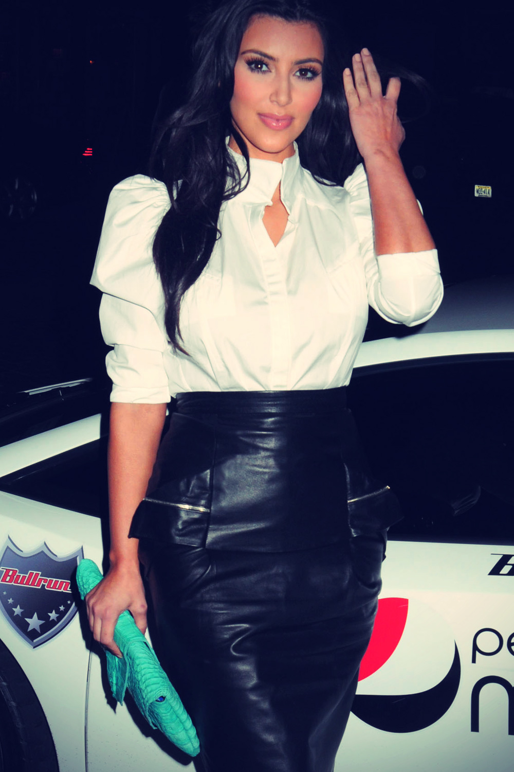 Kim Kardashian at Pepsi Bullrun launch party