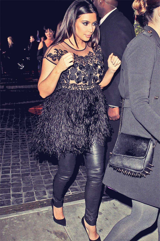 Kim Kardashian attending party fotr Top Shop at Cecconi's