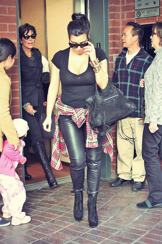 Kim Kardashian heads To The Doctor's Office