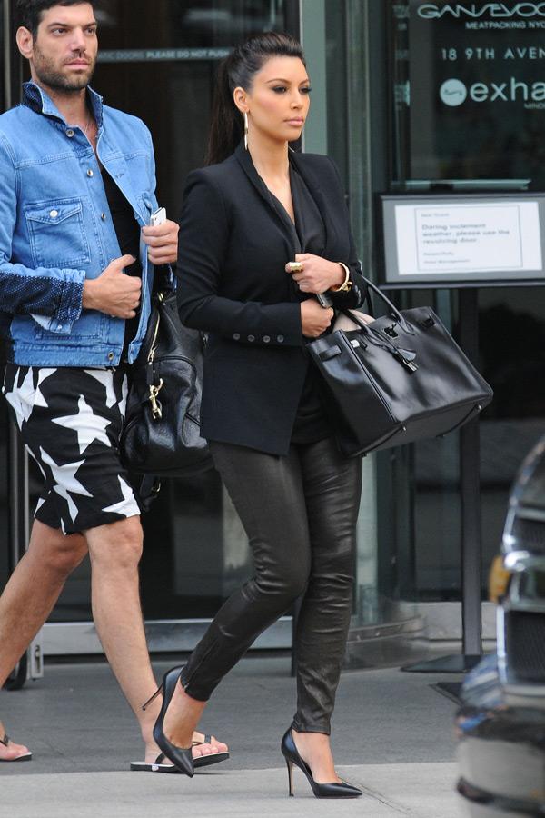 Kim Kardashian leaves her hotel