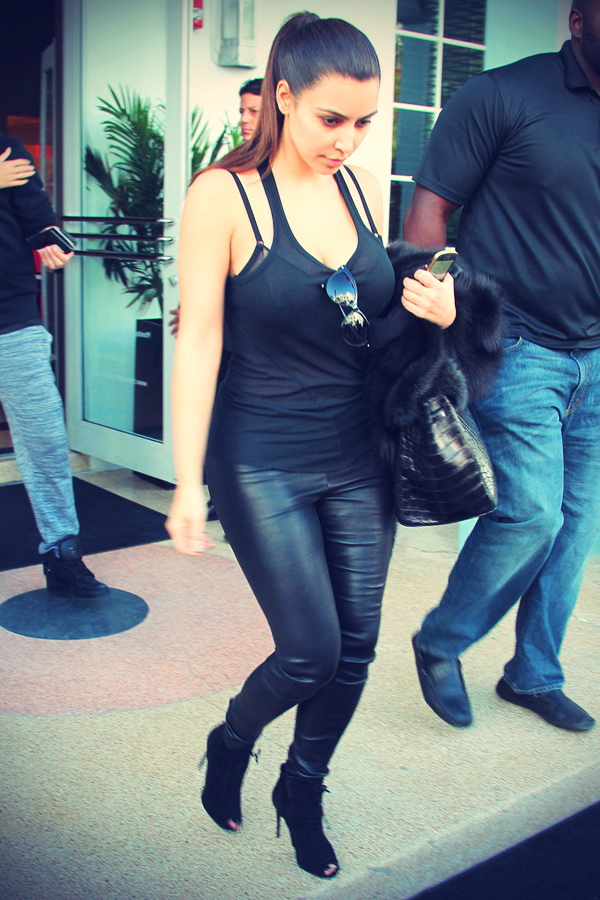 Kim Kardashian out and about after her Landing in Miami
