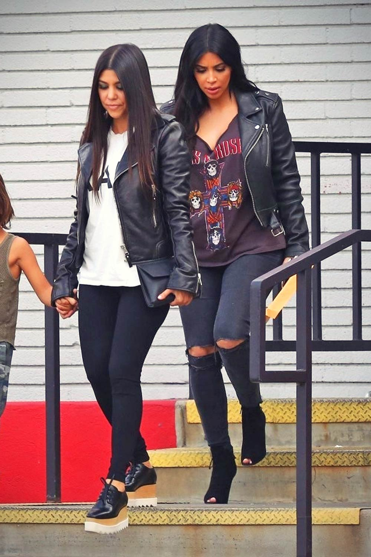 Kim Kardashian Out With Khloe Kourtney In Calabasas