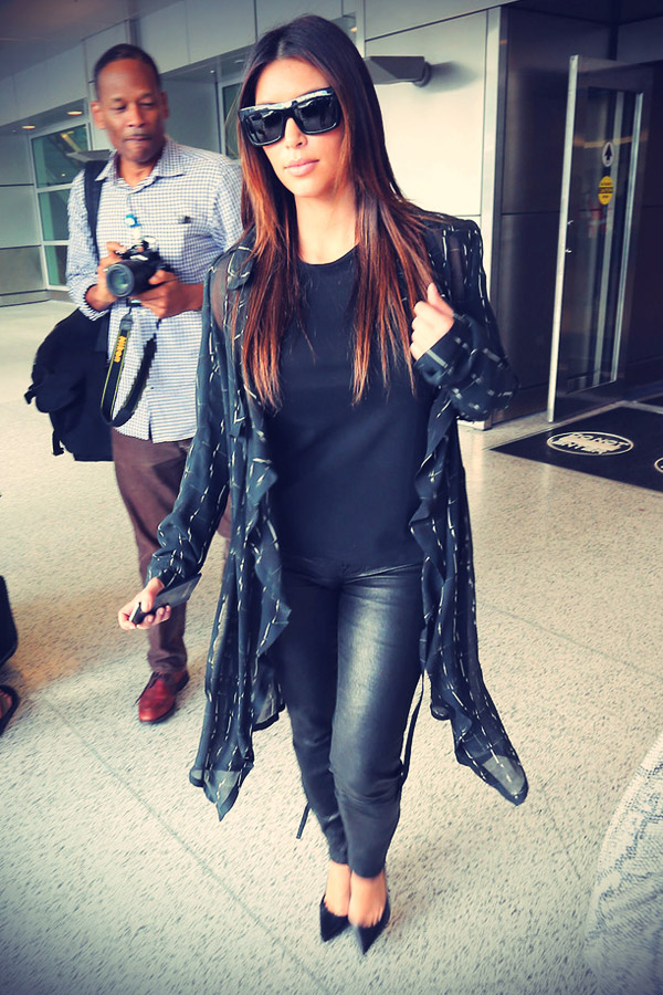 Kim Kardashian returned after a one day trip to Mexico City