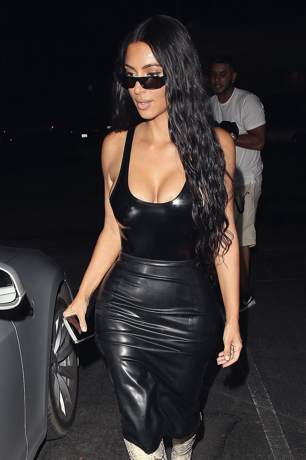 Kim Kardashian seen at Matsuhisa Restaurant