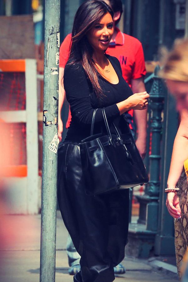 Kim Kardashian shopping around SoHo