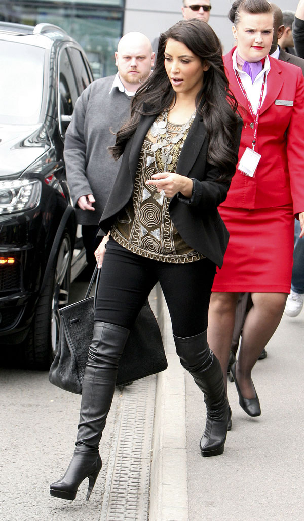 Kim Kardashian at Heathrow Airport