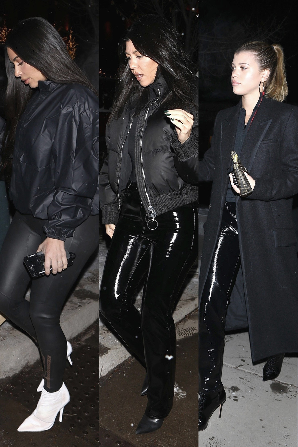 Kim & Kourtney Kardashian and Sofia Richie at Matsuhisa restaurant