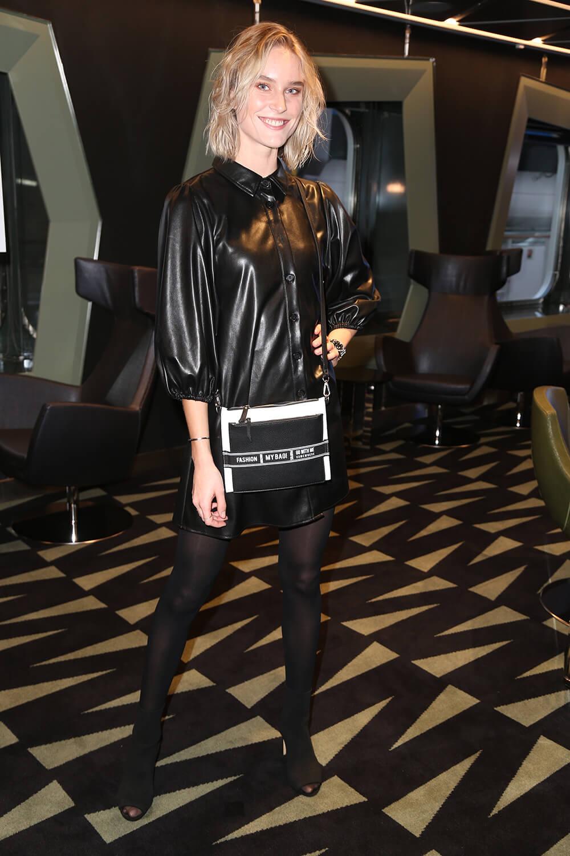 Kim Hnizdo Attends Taufe Der Msc Grandiosa Leather Celebrities