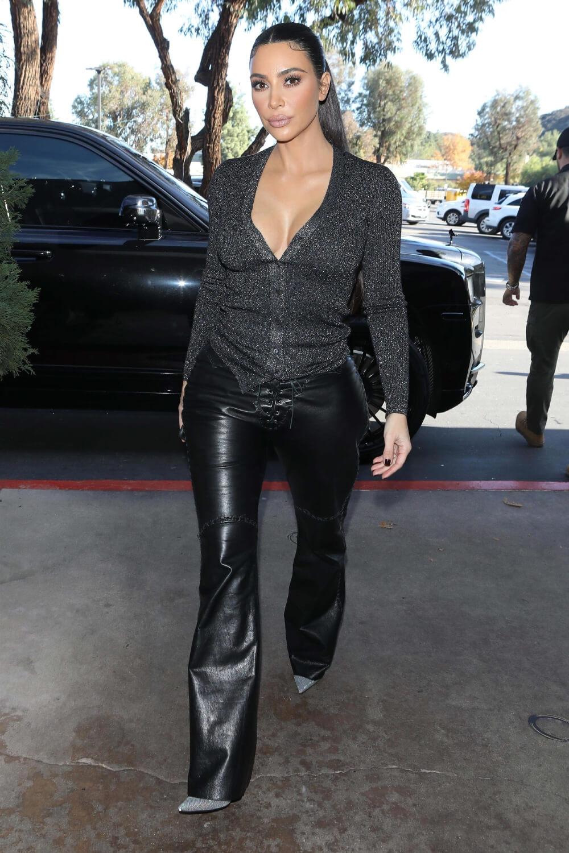 Kim Kardashian lunch at La Plata