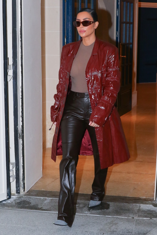 Kim Kardashian leaving her hotel in Paris