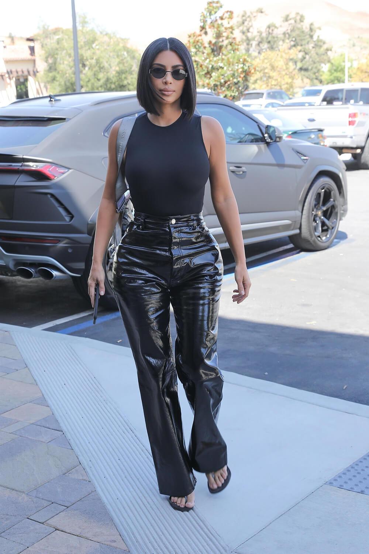 Kim Kardashian grabbing breakfast in Calabasas