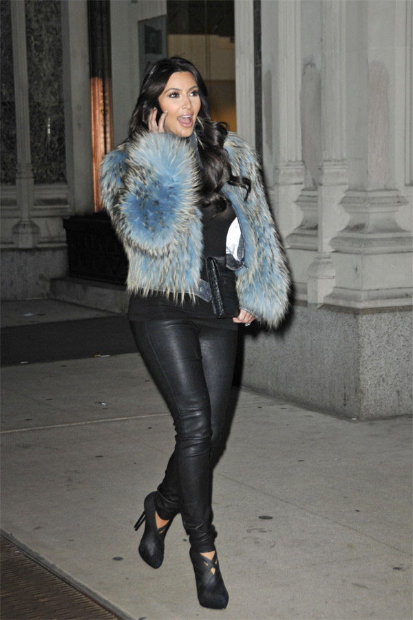 Kim Kardashian out and about in NY