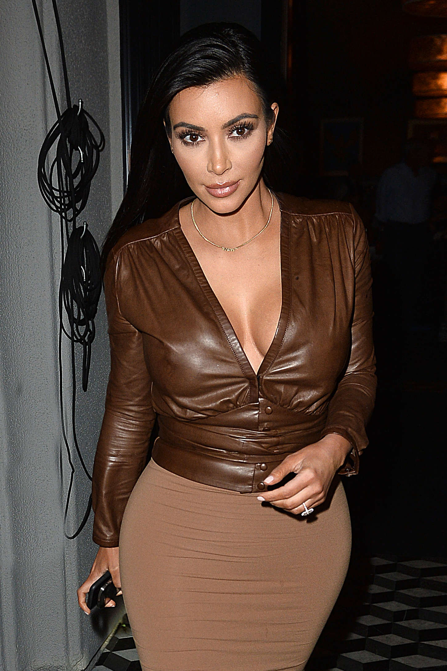 Kim Kardashian spotted out for dinner at Craig's Restaurant