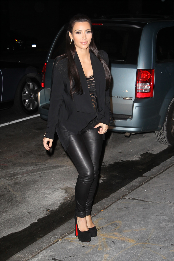 Kim and Kourtney Kardashian at Bowlmore lanes bowling centre in NY