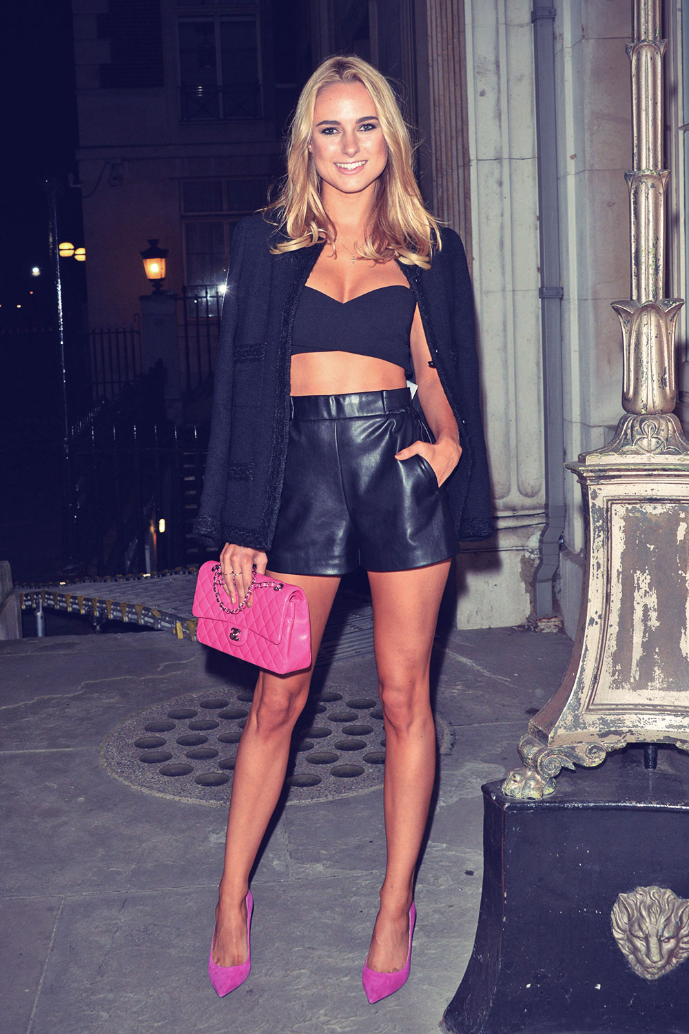 Kimberley Garner attends Sorapol Catwalk Show in London