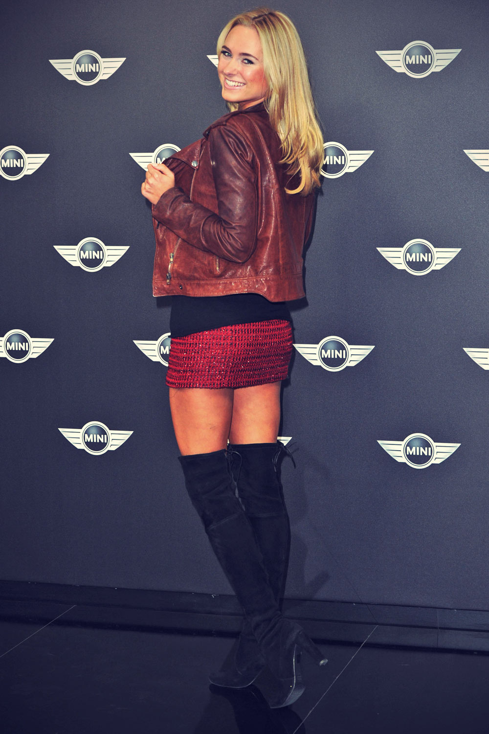 Kimberley Garner attends The MINI launch party