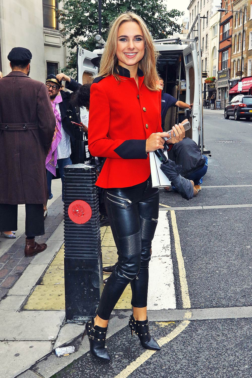 Kimberley Garner out during London Fashion Week