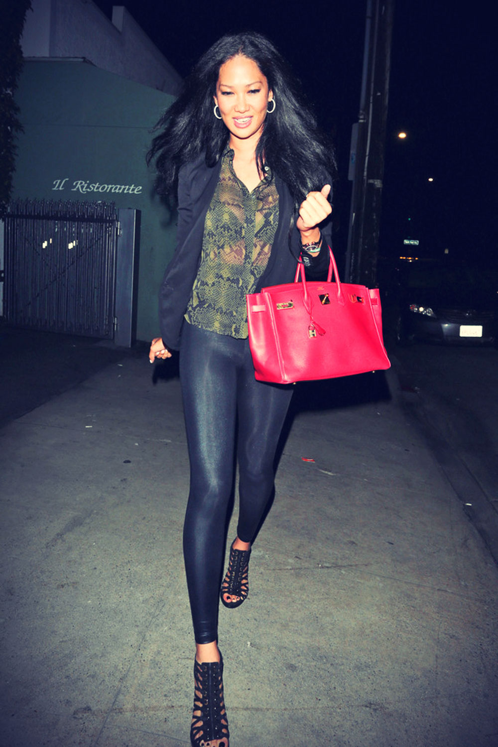 Kimora Lee Simmons leaves Giorgio Baldi
