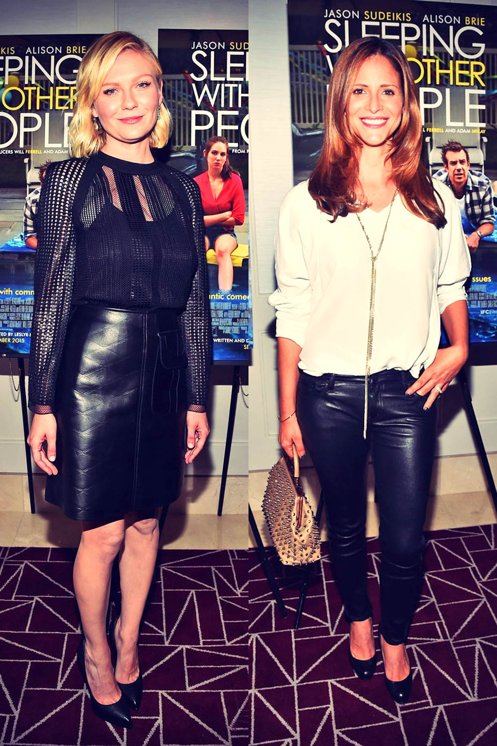 Kirsten Dunst & Andrea Savage attend Sleeping With Other People screening