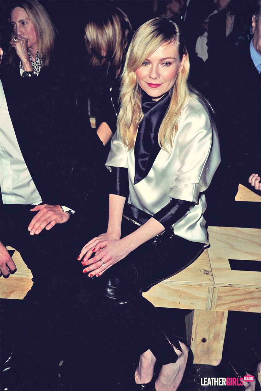 Kirsten Dunst attends the Saint Laurent Fashion Show