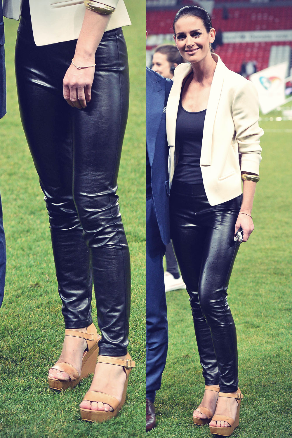 Kirsty Gallacher at soccer Aid Old Trafford Manchester