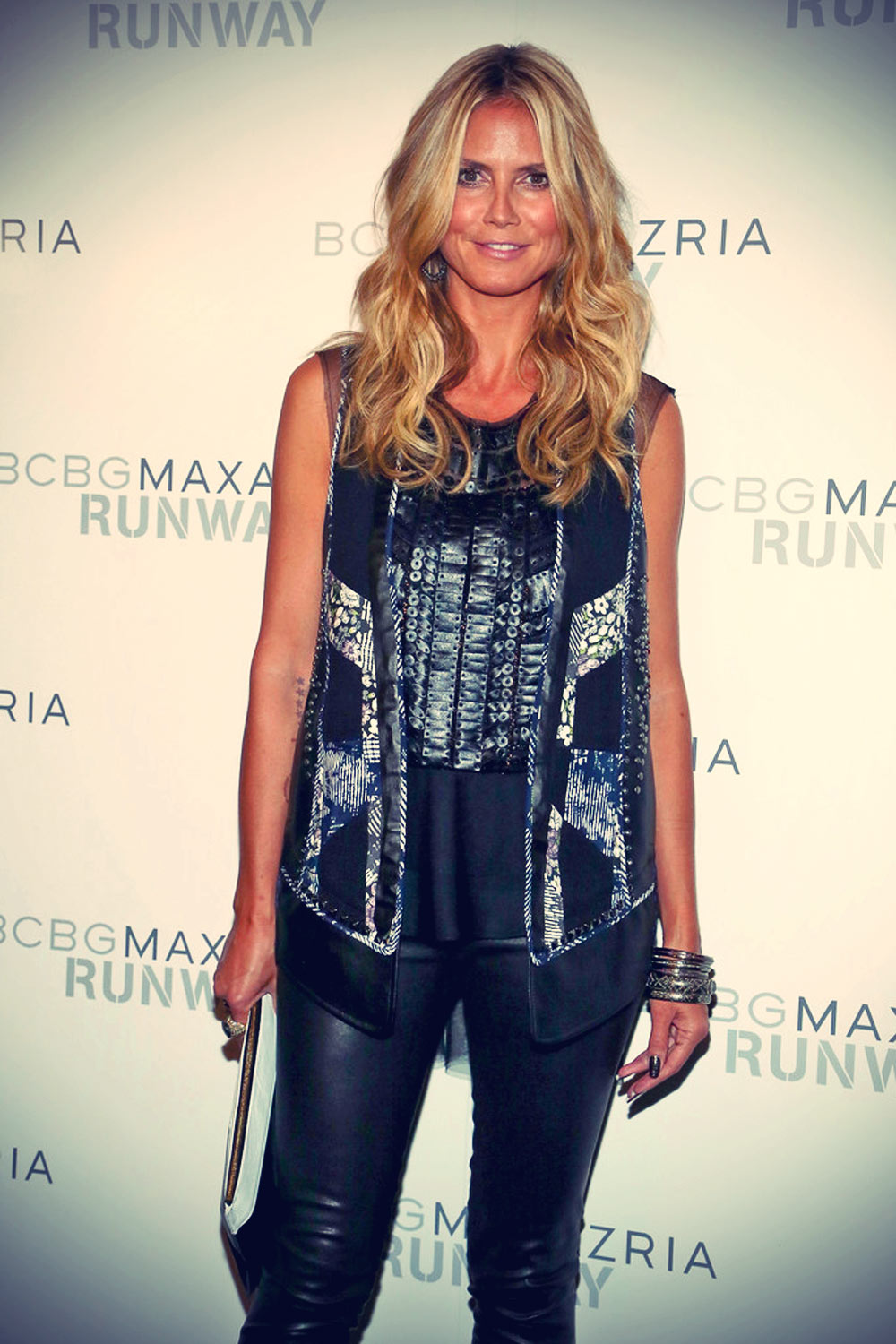 Heidi Klum attends the BCBGMAXAZRIA Spring 2014 fashion show